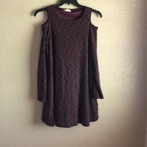 Altar'd state cold shoulder dress